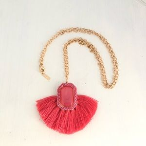 Sugarfix By Baublebar Pink Tassel Chain Necklace